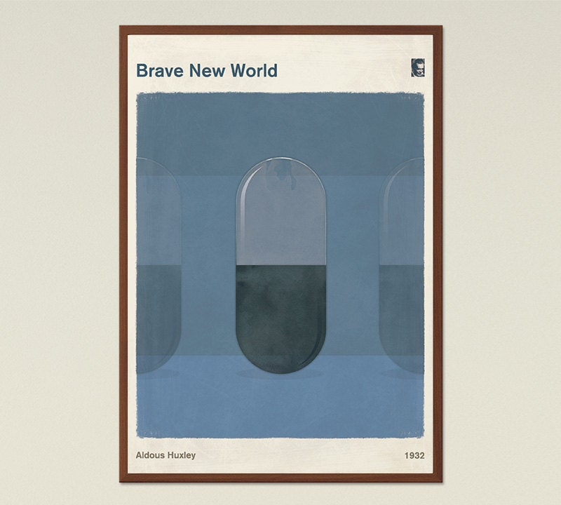 Aldous Huxley Brave New World Large Book Cover