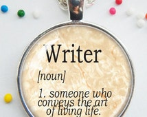 Writer pendant - dictionary definition - gift for writer - handmade - word jewelry