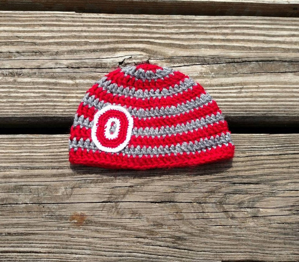Ohio State Buckeyes Baby Beanie Ready To Ship Scarlet And