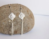 Silver Tassel Necklace, Long tassel necklaces, Christmas gift, Silver long necklace,Long silver necklace,necklace tassel /N-109