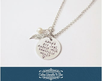 Nana's Are Just Angels With Invisible Wings NECKLACE!