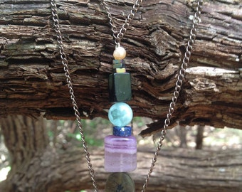 Earthy, Mixed Healing Stone, Handmade Necklace