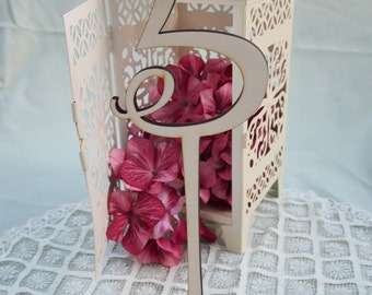 Table Numbers, Wedding Table numbers, Party Table numbers