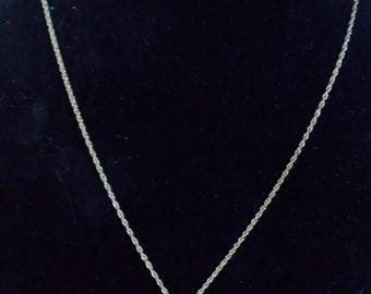 Pendant Necklace with Dark Stone