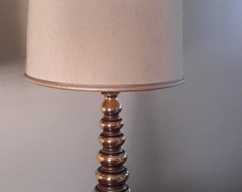 Mid Century Iridescent Glass Table Lamp