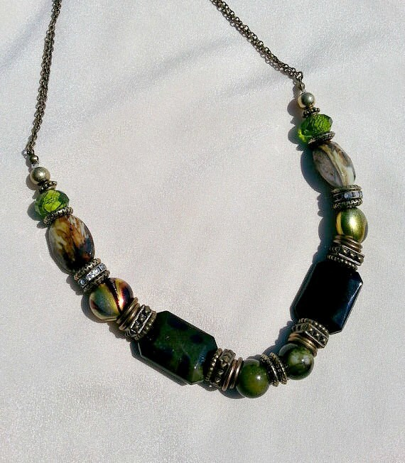 chunky necklaces green statement necklace green beaded