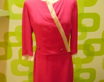 dress, vintage dress, silk, vintage dress, 1960s, made in italy