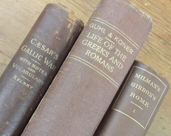 Caesar's Gallic War Frances Kelsey 1897 Life of the Greeks Romans Guhl Koner 1876 History Decline Fall Roman Empire Millman Gibbon Rome 1878