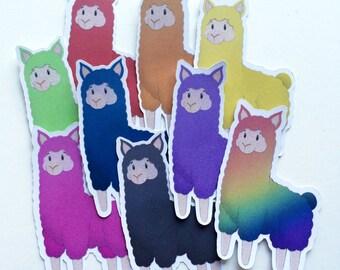 Llama Die Cut Stickers