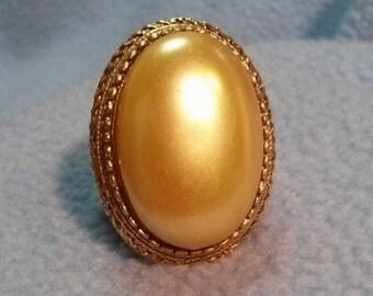 Florenza Large Faux Pearl Ring