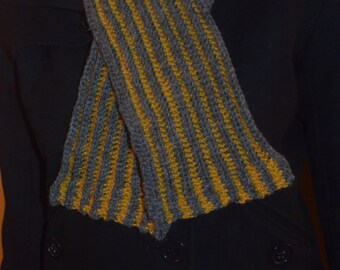 Reversible Ribbed Scarf