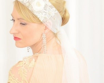 "Wedding Veil - headpiece ""Sophia"""