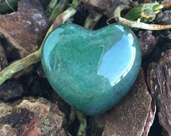 Green Aventurine Heart infused with Love and Reiki/ Healing Crystals and Stones