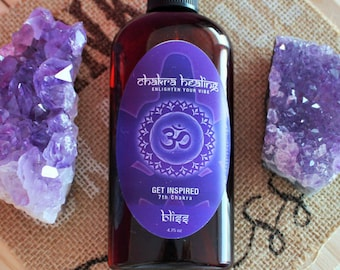 Chakra Healing Spray, Crown Chakra made w/ Essential Oils infused w/ Reiki, Gift Ideas
