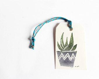 handgeschnitzer stamp Aloe, succulents