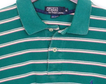 Size XL - Early 1980's VTG Polo by Ralph Lauren cotton pique polo shirt, made in U.S.A.,