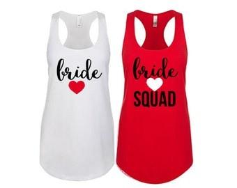 Bride Squad Bridemaid Tank, Maid of Honor Tank, Wedding Tank, Bridesmaid Gift, Gift for Bridesmaid, Bride Tank