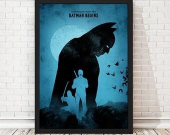 Batman Begins, The Dark Knight, Batman Trilogy Movie Poster, Retro Poster, Minimalist Poster