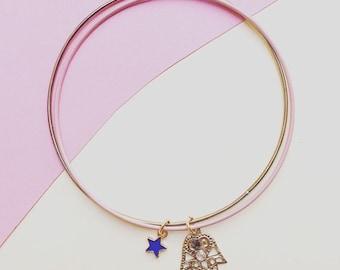 Double bangle charms bracelet!