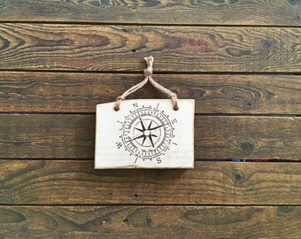 Gorgeous, Simple, Rustic Reclaimed Timber 'Compass' Wall Hanging