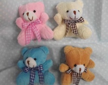Miniature Teddy Bear.Bear Key Chain. Dollhouse Toys, Bedroom Accessories. Animal Key Chains. Handmade Key Chains.Women's Key Chain.