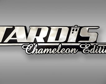 TARDIS Chameleon Edition Dr Who Car Emblem - Chrome Plastic Not a Decal / Sticker