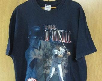 Vintage 90's New York Yankees Paul O'Neil Pro Player t-shirt World Series era Vintage New York baseball hipster tee - XL
