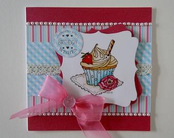 Handmade Cupcake Birthday Card