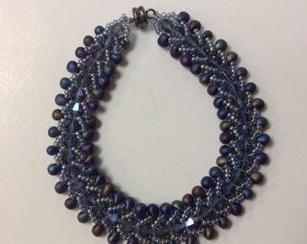 Vintage Hand Braided Bead Bracelet