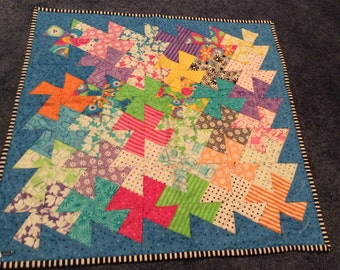 Pin Wheel Quilt/Table Topper/Doll Quilt