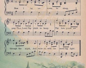 Evening Prayer, Hymn Art, Instant Download