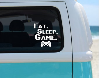 Eat Sleep Game Vinyl Decal Sticker - Gamer - Car Sticker - Window Decal - Eat Sleep Game - Gaming Decal - Video Games - Car Decal - Decals