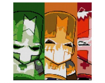 Castle Crashers Cross Stitch Pattern, Video Games, Gaming