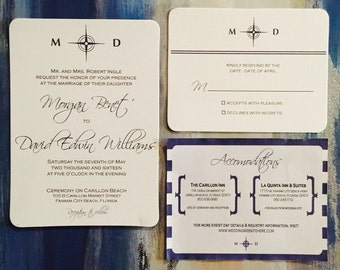 DIY Printable Nautical Wedding Invitation Suite!