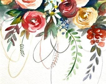 Fun floral 11x15 in (watercolor)