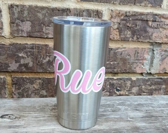 Personalized decal for Yeti, RTIC cup decal, custom stickers for cups