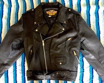 70s Leather Motorcycle Jacket