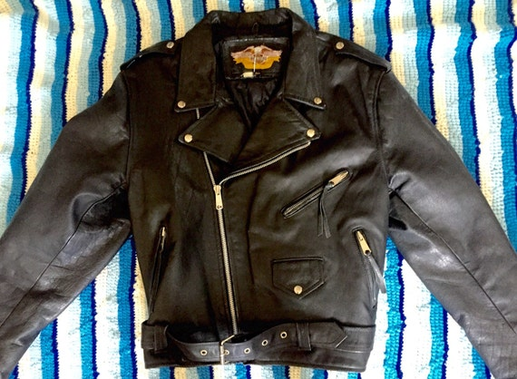 70s Leather Motorcycle Jacket
