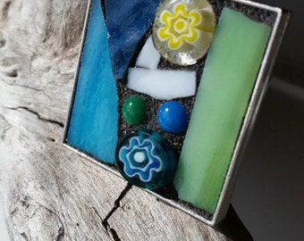 Mosaic Stained Glass Pendant