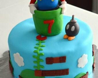 Mario Cake Topper Kit (100% Edible)
