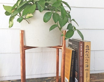 Copper Plant Stand | Plant Stand | Modern Plant Stand | Indoor Plant Stand | Plant Stand Indoors | Copper Pipe | Plants | Mid Century