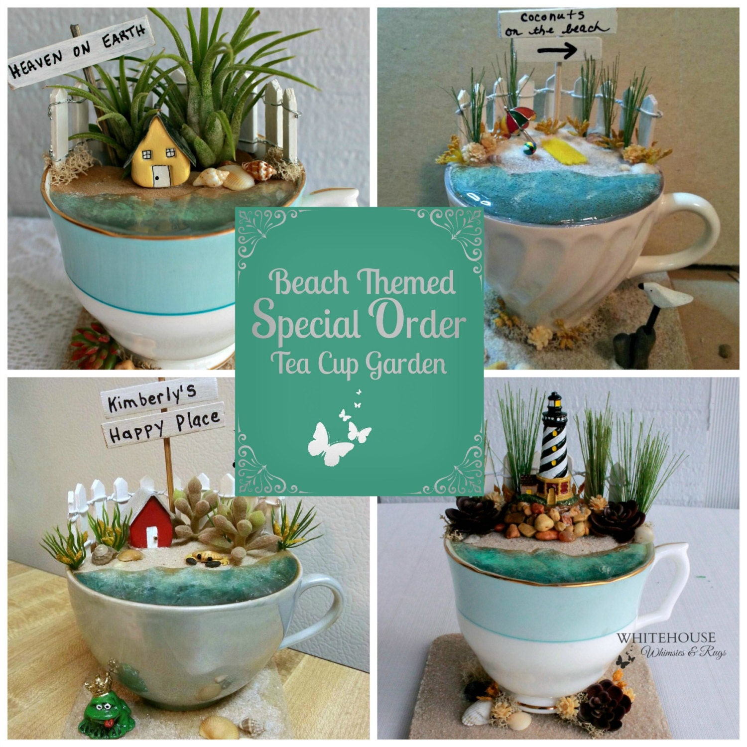 Beach Fairy Garden Tea CupMade to OrderTea Cup Fairy Garden