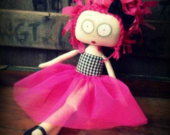 Creepy Doll, Creepy Cute Doll, Creepy Rag Doll, Ghost Doll, Gothic Doll, Grunge Doll, Alternative Gift, Handmade Doll
