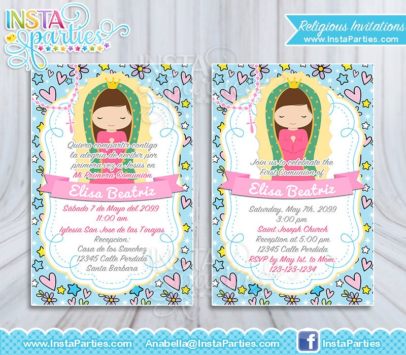 Communion Invitations For Girl with great invitations layout