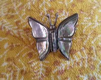 Abalone Shell Butterfly Pin