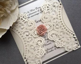 ANNA Handmade Lasercut Wedding Invitation