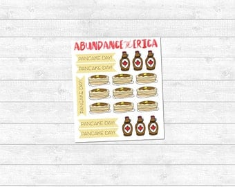 Pancake Day Planner Stickers