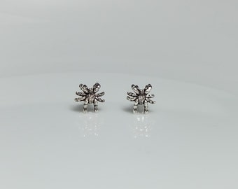 Spider Sterling Silver Stud Earrings