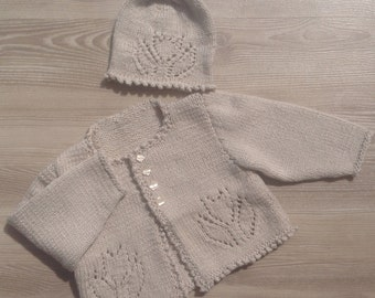 Sweater,Baby Sweater,  Infant Sweater, Hand Knit Sweater,