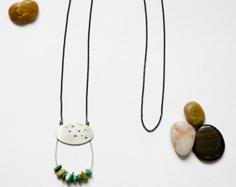 Turquoise Sterling Silver Necklace | Trendy Jewelry |Turquoise Necklace | Turquoise Sterling | Natural Stone Necklace | Eco Friendly